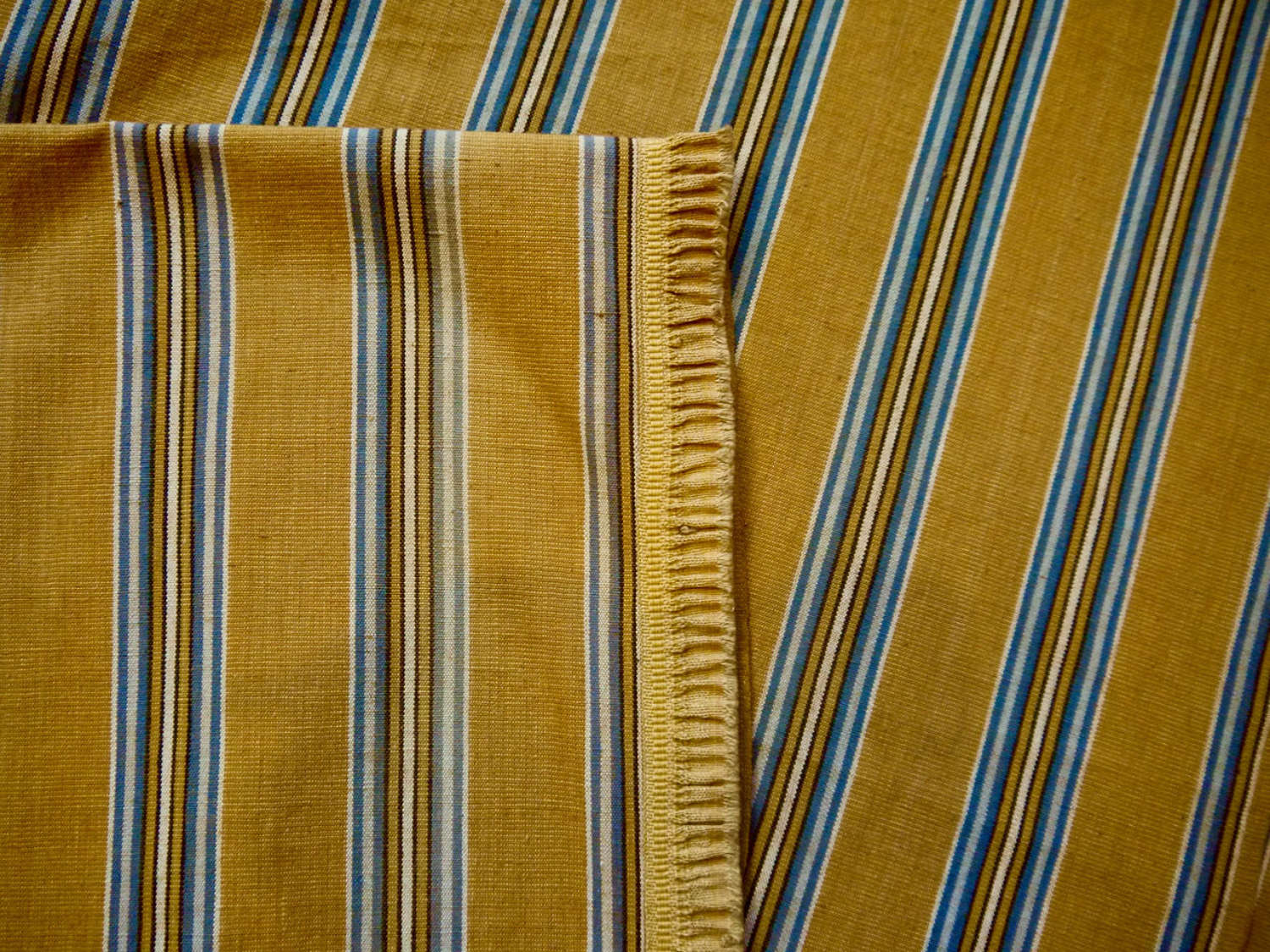 Saffron Yellow Striped Cotton Panel French