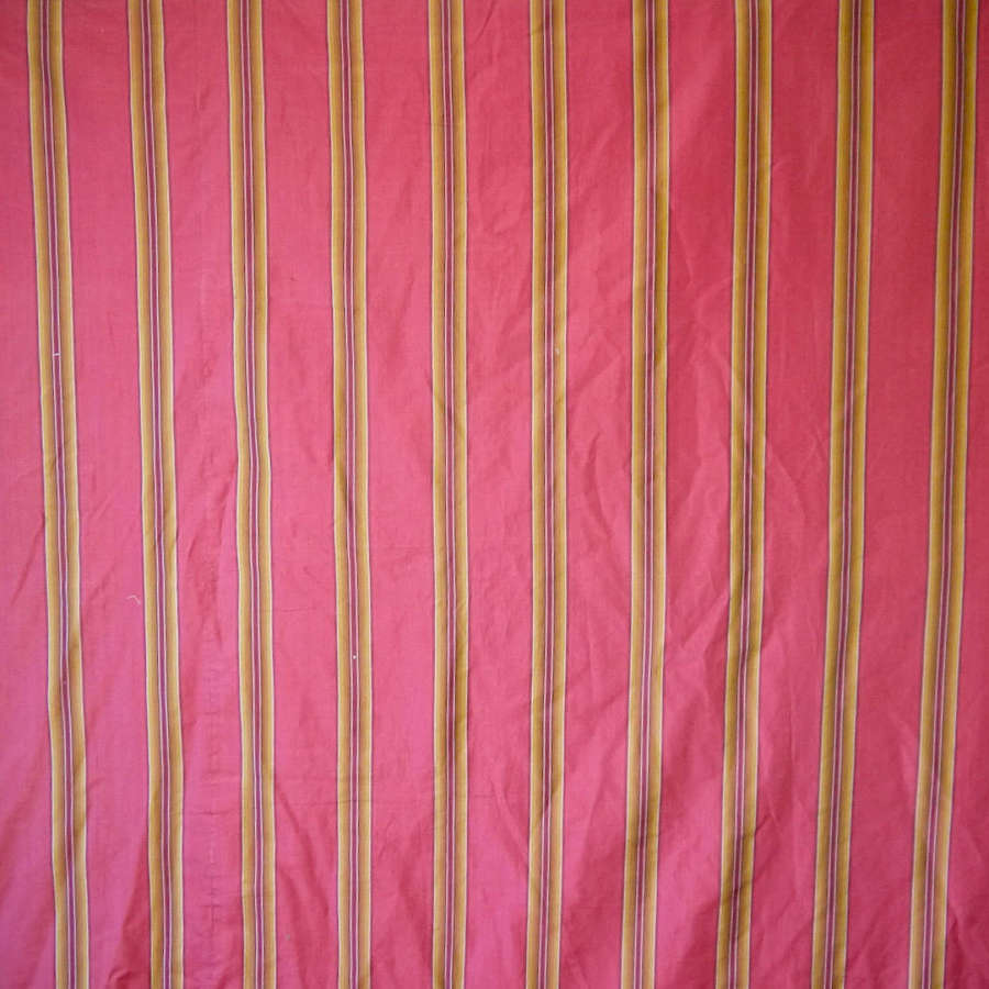 Red Striped Silk French Early 20th Century