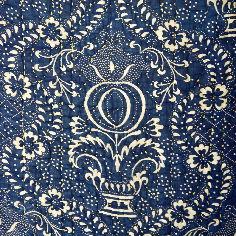 Indigo Resist Small Quilt French 18th Century