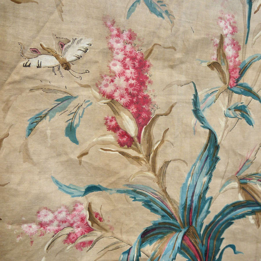 Floral Chintz Single Curtain English 19th Century