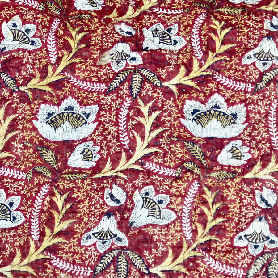 Block printed Cotton Quilt French 18th Century