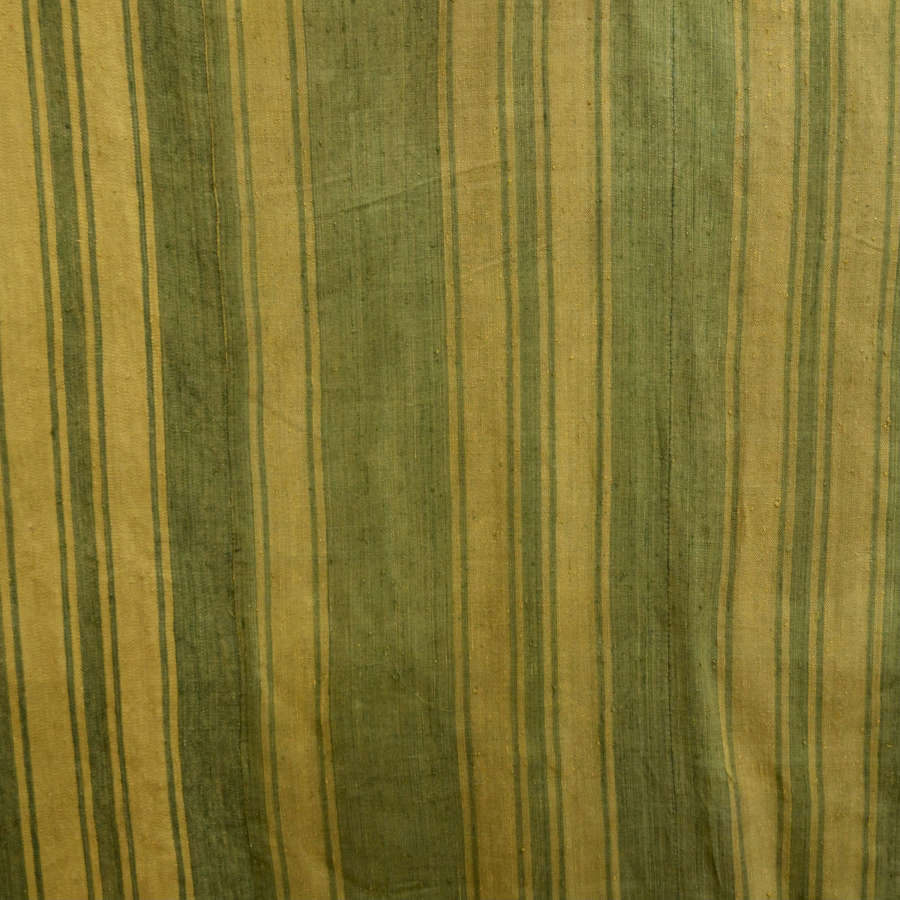 Green and Saffron Yellow Curtain French 18thC