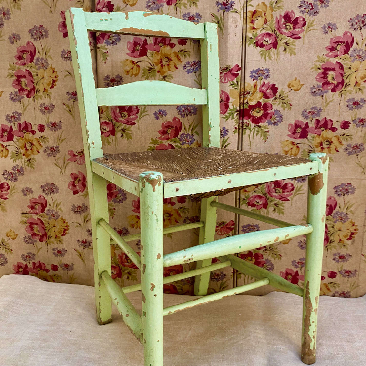 Green Painted Childs Chair English Early 20th Century