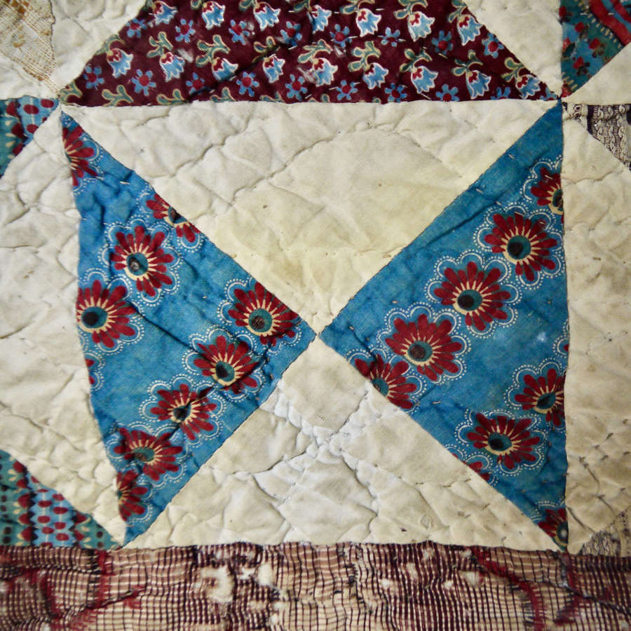 Patchwork Quilt French 18th/19th Century