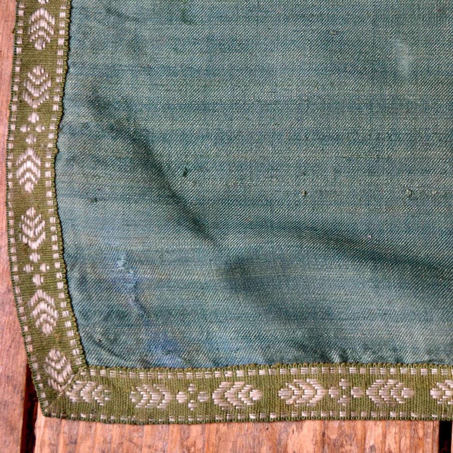 Green Bourette de Soie Curtain French 19th Century