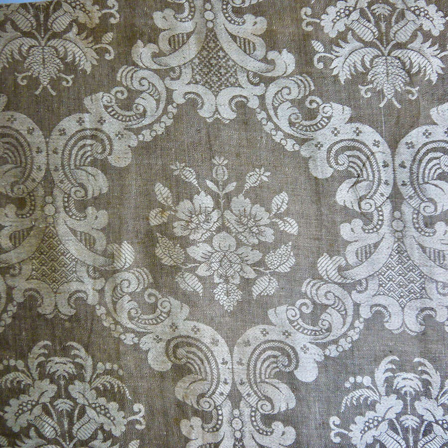 Damask Linen Panel French 19th century